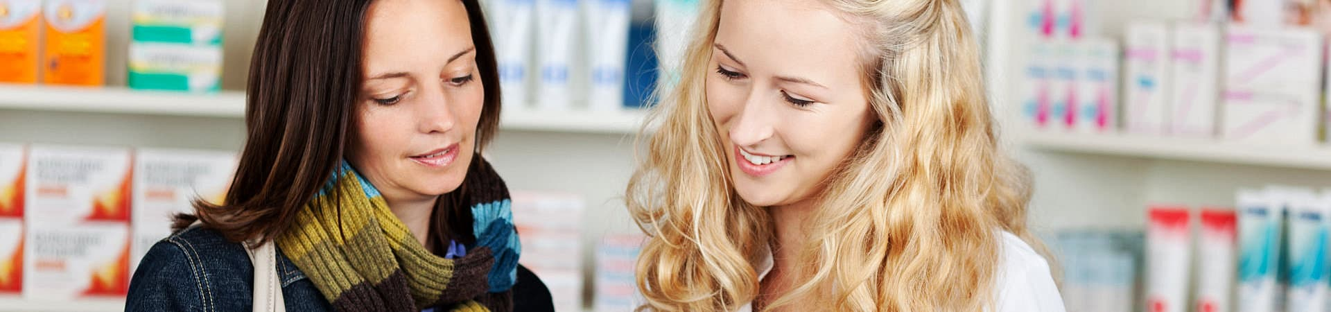 a pharmacist and a customer